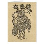 Símbolos alquímicos del dragón tarjeta de felicitación