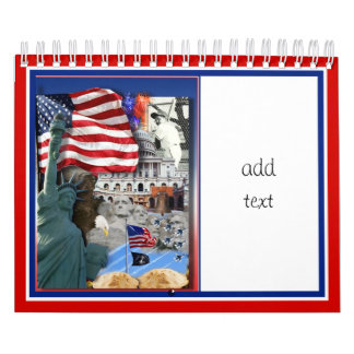 Símbolos americanos calendario de pared