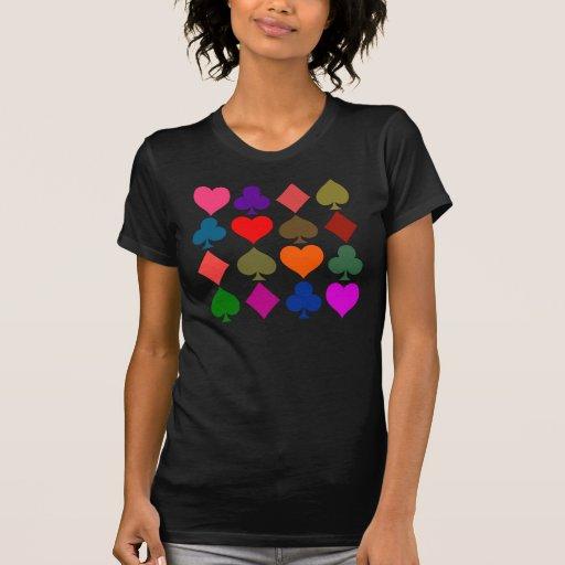 Símbolos artsy de la tarjeta camisetas