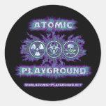 Símbolos atómicos etiqueta redonda