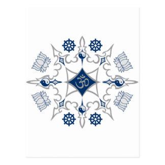 Símbolos budistas tribales postal