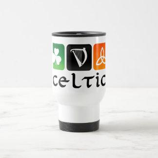 Símbolos célticos taza de viaje