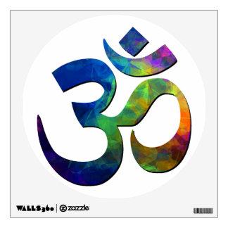 Símbolos coloridos de la yoga de OM