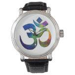 Símbolos coloridos de la yoga de OM Relojes