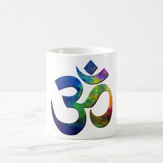 Símbolos coloridos de la yoga de OM Tazas De Café
