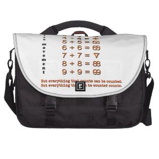 Símbolos creativos de la matemáticas bolsas de portatil