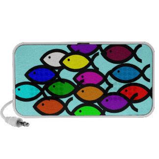 Símbolos cristianos de los pescados - escuela del  laptop altavoz