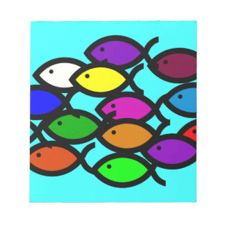 Símbolos cristianos de los pescados - escuela del libretas para notas