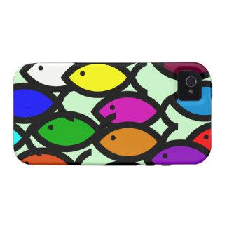 Símbolos cristianos de los pescados - escuela del Case-Mate iPhone 4 fundas