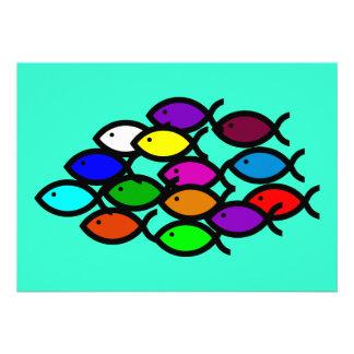 Símbolos cristianos de los pescados - escuela del invitacion personal