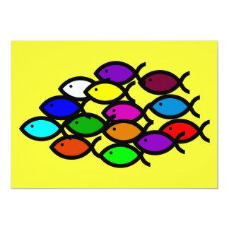 """Símbolos cristianos de los pescados - escuela del invitación 5"""" x 7"""""""