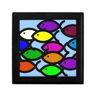Símbolos cristianos de los pescados - escuela del joyero cuadrado pequeño