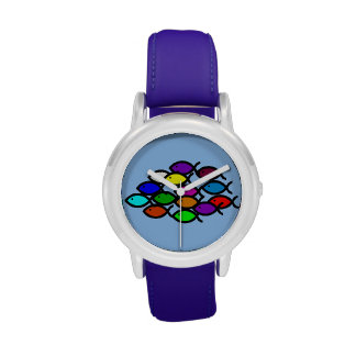 Símbolos cristianos de los pescados - escuela del reloj de mano