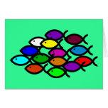 Símbolos cristianos de los pescados - escuela del  felicitacion