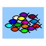 Símbolos cristianos de los pescados - escuela del postal