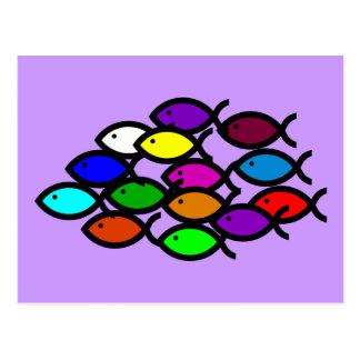 Símbolos cristianos de los pescados - escuela del tarjetas postales