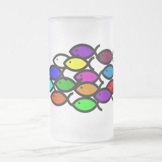 Símbolos cristianos de los pescados - escuela del taza de cristal