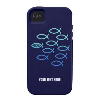 Símbolos cristianos de los pescados iPhone 4/4S funda