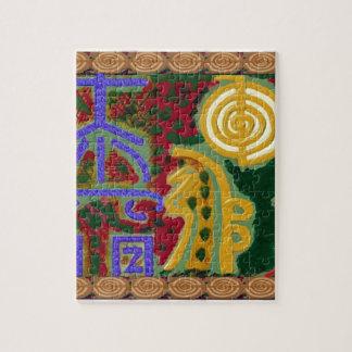 Símbolos curativos de Reiki del artista Canadá de Rompecabezas