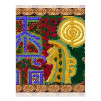 Símbolos curativos de Reiki del artista Canadá de Tarjeta Postal