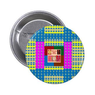 Símbolos curativos de REIKI en color completo de Pin Redondo De 2 Pulgadas