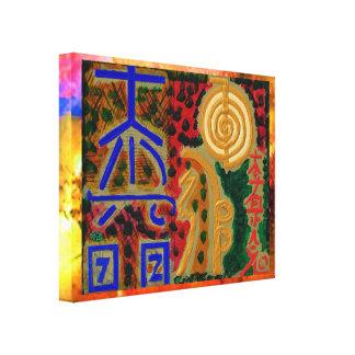 Símbolos curativos de ReikiHealingArt Reiki Impresiones En Lona