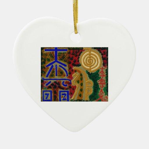 Símbolos curativos del vintage REIKI según lo Ornamento De Reyes Magos