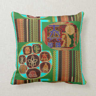Símbolos curativos Lotus Chakra de oro de REIKI Cojín Decorativo