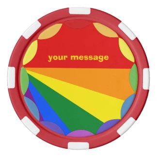 Símbolos de cerámica del microprocesador de LGBT Fichas De Póquer