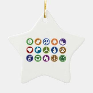 Símbolos de Eco Adorno De Cerámica En Forma De Estrella