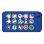 Símbolos de Eco iPhone 4/4S Carcasa