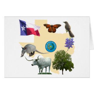 Símbolos de estado de Tejas Felicitación