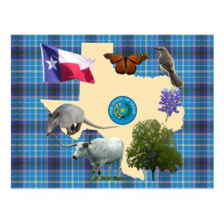 Símbolos de estado de Tejas Tarjeta Postal