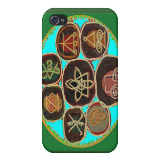 Símbolos de KARUNA Reiki de Navin Joshi iPhone 4 Carcasas