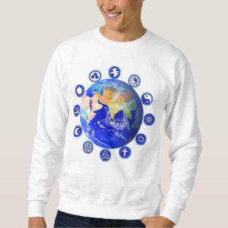 Símbolos de la camiseta de la paz y de la unidad sudadera con capucha
