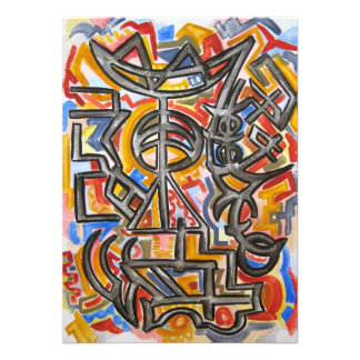Símbolos de la cueva - arte abstracto anuncios