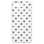 Símbolos de la matemáticas - blancos y negros iPhone 5 fundas