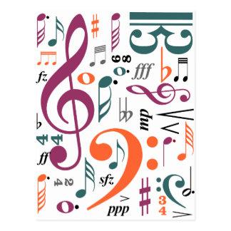 Símbolos de la música postales