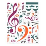 Símbolos de la música tarjetas postales