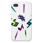 Símbolos de la notación de música gráficos iPhone 4/4S carcasa