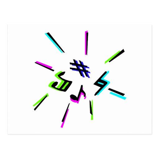 Símbolos de la notación de música gráficos postal