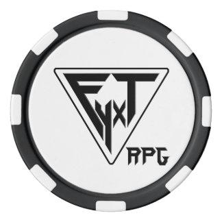 Símbolos de la recompensa del jugador del RPG de Juego De Fichas De Póquer