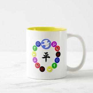 Símbolos de la religión del mundo tazas de café