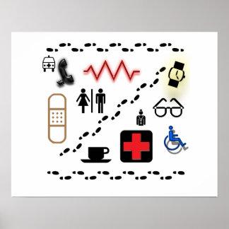 Símbolos de la salud poster