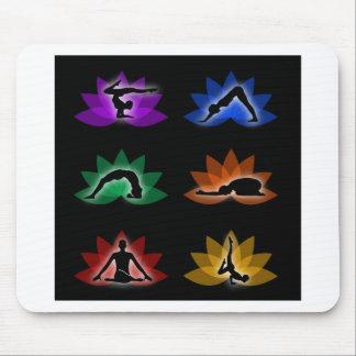 símbolos de la yoga y de la meditación alfombrilla de raton