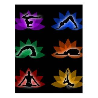 símbolos de la yoga y de la meditación tarjeta postal