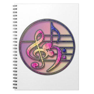 Símbolos de música 1 cuaderno