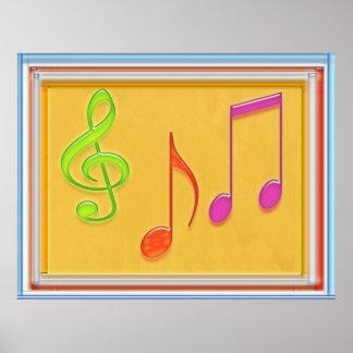 Símbolos de música de baile impresiones