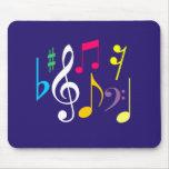 Símbolos de música Mousepad Tapetes De Raton
