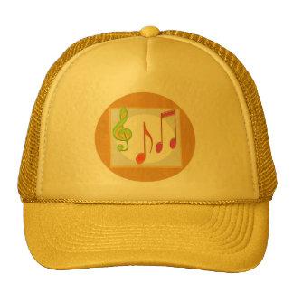 Símbolos de música multicolores de baile gorro de camionero